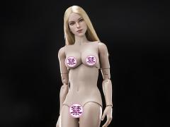 Super Model Head Sculpt (Blond) & Female Body 1/6 Scale Set