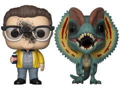 Pop! Movies: Jurassic Park - Dennis Nedry & Dilophosaurus Two-Pack Exclusive