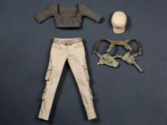 Female Tactical Shooter Combat Uniform (Army Green) 1/6 Scale Accessory Set