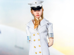 Flight Attendant Dress (White) 1/6 Scale Accessory Set