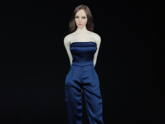 One Piece Culotte Jumpsuit (Blue) 1/6 Scale Accessory Set