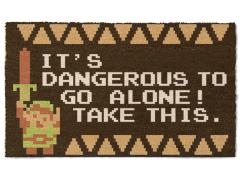 The Legend of Zelda It's Dangerous Door Mat