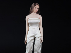 One Piece Culotte Jumpsuit (Beige) 1/6 Scale Accessory Set