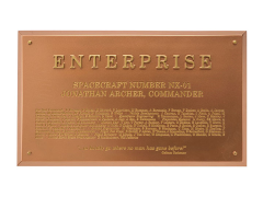 Star Trek Dedication Plaque - Enterprise NX-01
