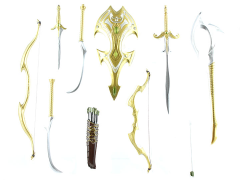 Mythic Legions Advent of Decay Elf Weapons Pack