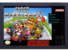 Super Mario Kart Cover Framed Art Print