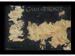 Game of Thrones Map Framed Art Print