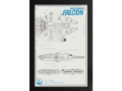 Star Wars Millennium Falcon (The Force Awakens)  Framed Art Print