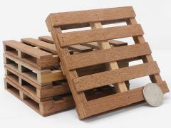 Mini Materials Mini Mahogany Pallet Coasters (5 Pack)