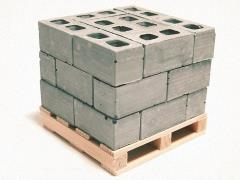 Mini Materials 1/12 Scale Mini Cinder Blocks (24 Pack) with Pallet