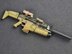 SCAR Assault Rifle (Mk17 in Tan) 1/6 Scale Accessory Set