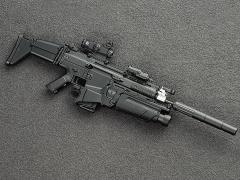 SCAR Assault Rifle (Mk17 in Black) 1/6 Scale Accessory Set