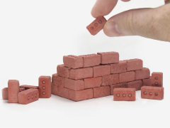 Mini Materials 1/12 Scale Mini Red Bricks (50 Pack)