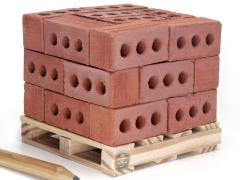 Mini Materials 1/6 Scale Pallet of Mini Red Bricks (24 Pack)