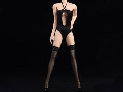 1/6 Scale Fashion Bikini (Black Keyhole Halter)