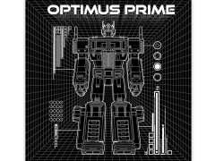 Transformers Generations: Optimus Prime Schematic Canvas Art Print