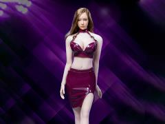 Leather Skirt (Burgundy) 1/6 Scale Accessory Set