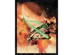 Star Wars Galactic Watercolor: Millennium Falcon Canvas Art Print