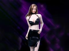 Leather Skirt (Black) 1/6 Scale Accessory Set