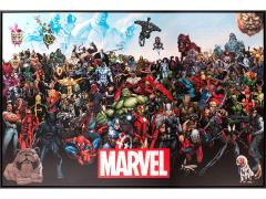 Marvel Lineup Framed Canvas Art Print