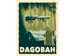 Star Wars Destination Dagobah Art Print