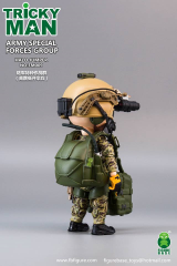 "FigureBase Mini 5/"" TRICKYMAN Army Special Forces Group HALO Jumper TM009 Toys"