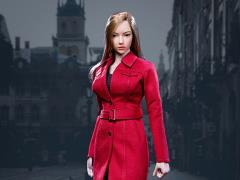 Female Trench Coat (Red) 1/6 Scale Accessory Set
