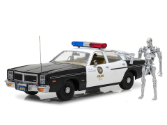 The Terminator 1:18 Artisan Collection 1977 Dodge Monaco Metropolitan Police Car & T-800 Endoskeleton