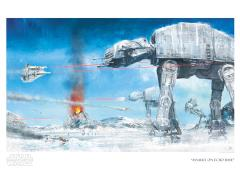 Star Wars Assault on Echo Base Limited Edition Giclee