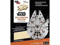 Star Wars IncrediBuilds Millenium Falcon Book & 3D Wood Model Kit