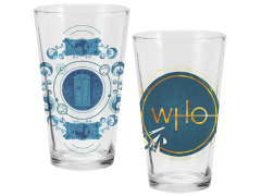 Doctor Who Series 11 Logo Pint Glass Set of 2