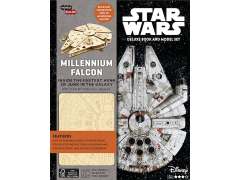 Star Wars IncrediBuilds Millenium Falcon Deluxe Book & 3D Wood Model Kit