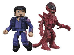 Alien Minimates Series 4 Annalee Call & Resurrection Xenomorph