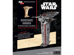 Star Wars IncrediBuilds Resistance Bomber Book & 3D Wood Model Kit
