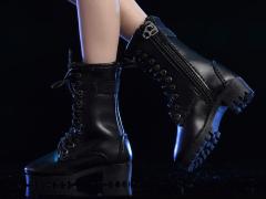 Zipper Boots (Black) 1/6 Scale Accessory Set