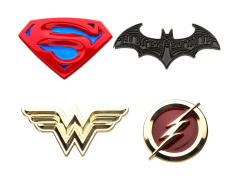 DC Comics Justice League Enamel Pin Set