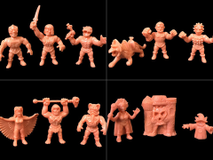 Masters of The Universe M.U.S.C.L.E. Wave 2 Set of 4 Three-Packs