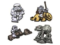 Star Wars Storm Trooper and AT-AT Pin Set