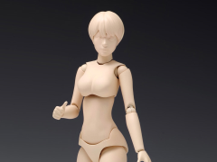 Option System Movable Body Female Type (B Ver.) 1/12 Scale Model Kit