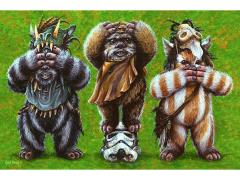 Star Wars Ewok No Evil Limited Edition Lithograph