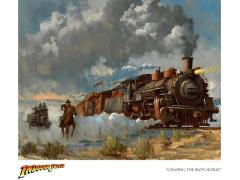 Indiana Jones Chasing the Iron Horse Limited Edition Giclee