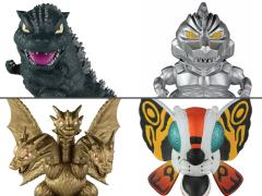Godzilla Chibi Set of 2 Two-Packs (Godzilla & Mechagodzilla and Mothra & King Ghidorah)