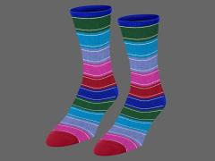 Child's Play Chucky Striped Custom Knit Crew Socks