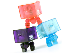 3Ago Brains On Show Clear Square R1 Set of 3 Figures