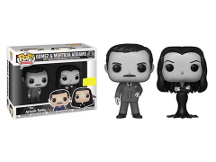 Pop! TV: The Addams Family - Gomez & Morticia Addams (Black & White) Exclusive
