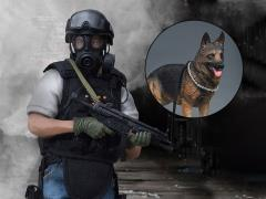 Hong Kong Police Force Special Duty Unit Canine Handler 1/12 Scale Figure