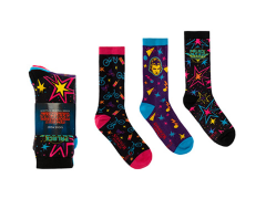 Stranger Things Palace Arcade Graphics Crew Socks Three-Pack