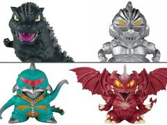 Godzilla Chibi Set of 2 Two-Packs (Godzilla & Mechagodzilla and Destroyah & Gigan)
