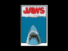 Jaws Enamel Pin