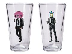 The Umbrella Academy Hazel & Cha-Cha Pint Glass Set